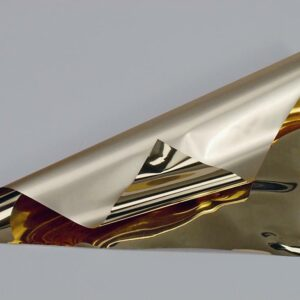 BOBINA PPL -BICOLOR METAL- CM 100X25 MT ORO LUCIDO/OPACO