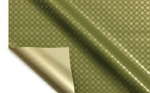 BOBINA PPL -RIBBON DIAMOND- CM 100X25 MT VERDE OLIVA+ORO