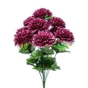 CRISANTEMI BOUQUET X10 CM.42 BURGUNDY