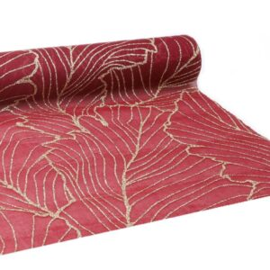 RUNNER ORGANZA C/GLITTER -BELLEZZA- 280MM 3MT BORDEAUX/ORO VD