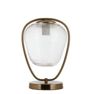 LAMPADA DA TAVOLO -LOIRA 18X28 CM H33 CM ORO ED
