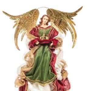 ANGELO RESINA/STOFFA H.45 CM BURGUNDY/VERDE