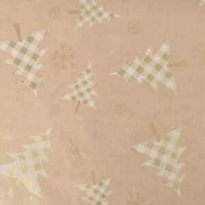 BOBINA -SCOTTISH- AVANAIMPERMEABILE CM 100X25 MT ORO/BIANCO