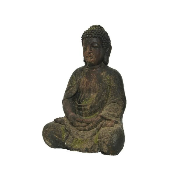 BUDDHA POLIMAGNESIO OUTDOOR 17X21 CM H.30 CM MARRONE WASHED