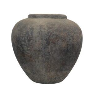 VASO CERAMICA D.70 CM H.68 CM -APPLE- GRIGIO