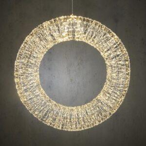CORONA LUMINOSA 6000LEDD.80 CM L.CALDA -WREATH- ESTERNO
